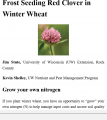 Frost Seeding Red Clover into Winter Wheat (ePub )