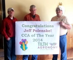 Jeff (center) along with colleagues Todd Schaumberg (left) and Matt Brugger (right)