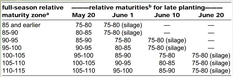Maturity Table