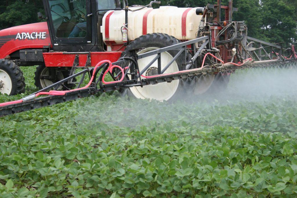 Spraying Soybean